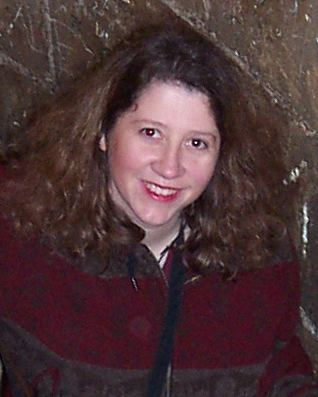 picture of Jayne Cravens in 2001 in a tower of La Sagrada Familia in Barcelona